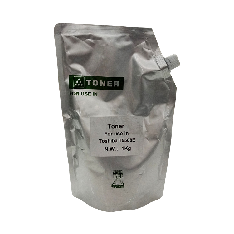 Laser Printer Toner Powder For Toshiba T5508E With Aluminum Foil Bag