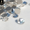 SS20 shiny flatback clear white 3D crystal non hotfix nail rhinestone for DIY nail art decoration