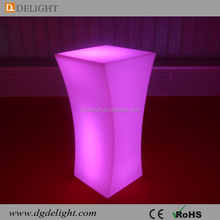 Hot Sale New Design High LED Glowing Cocktail Table Battery Power Light up Bar Table