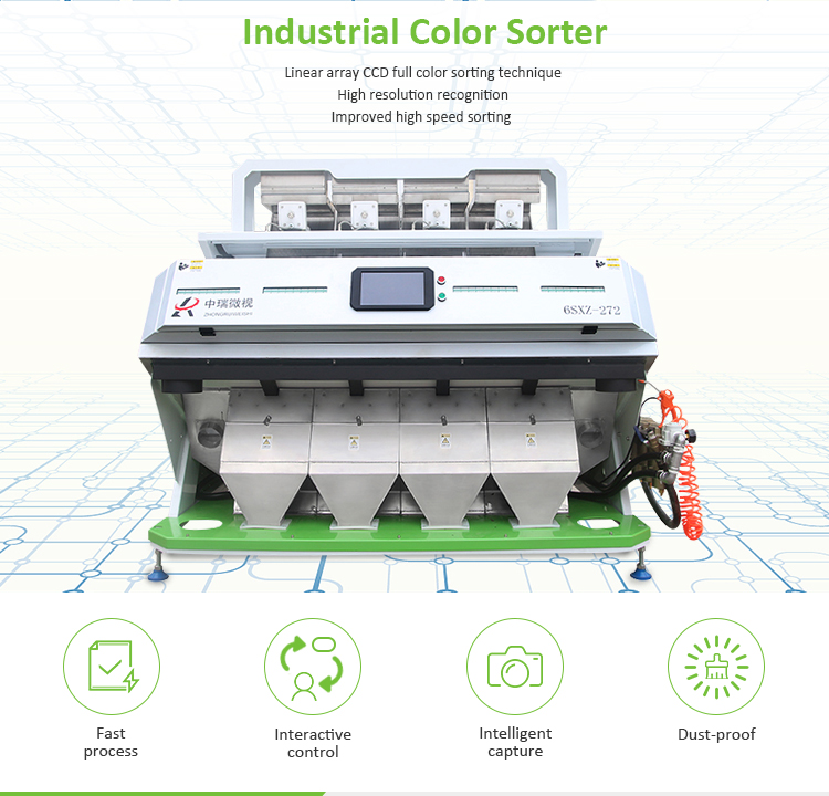 Intelligent Pet Bottle flakes CCD Camera Color Sorter Plastic Recycling Sorting Machine