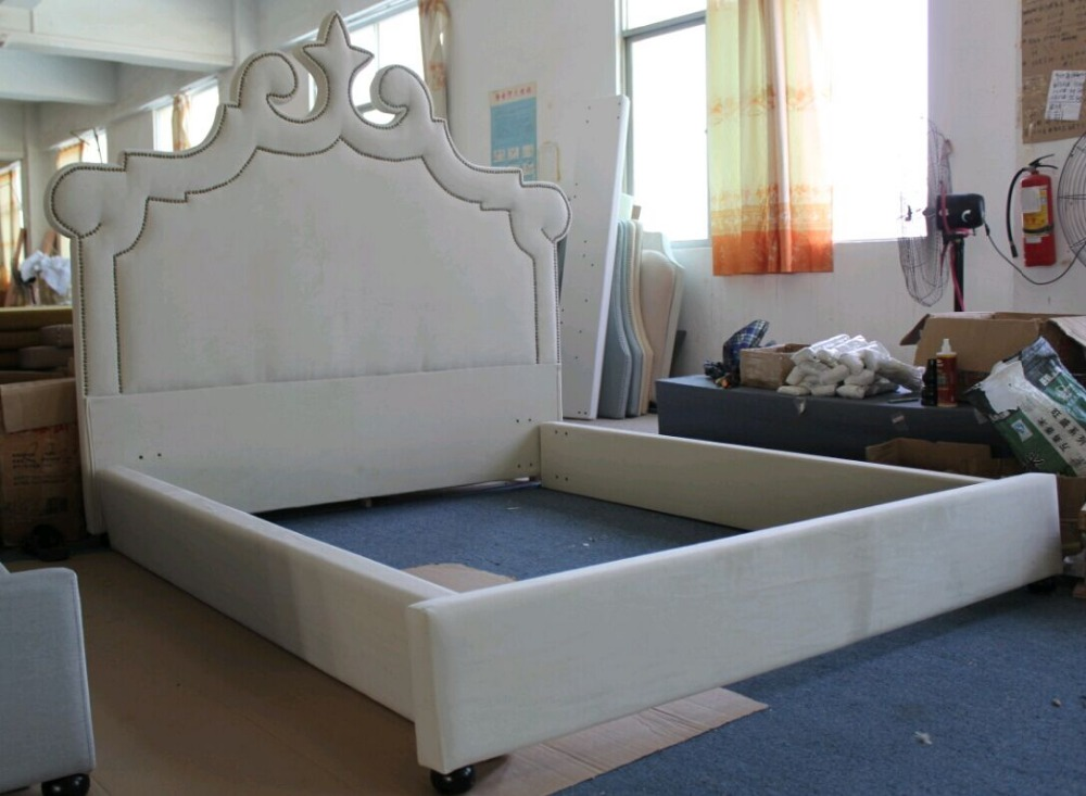 Modern foshan bed room furniture Peacock beds for double
