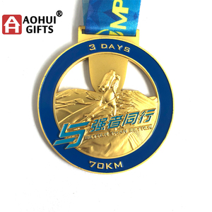 Hot sell Gold silver bronze half marathon finisher Medal 001
