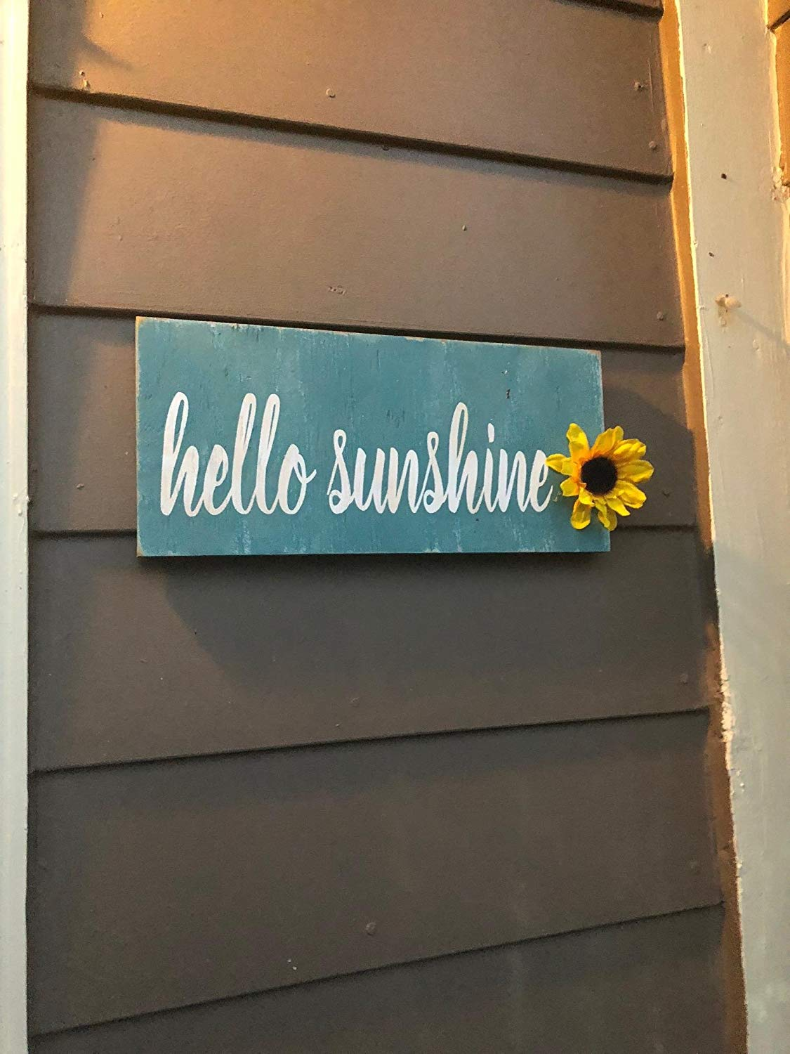 Get quotations · front porch signs front porch decor hello sunshine sign hello fall hello