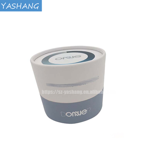 White rigid cylinder electronic products hand make aluminium foil box custom watch made boxes