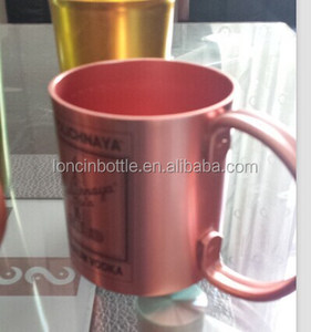 2015 new Smirnoff Moscow Mule Copper Aluminum Mug Barware Cup Vodka , Aluminum Mule Mug with Copper Finish/copper mug