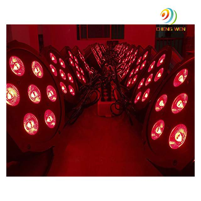 Cheap price 7pcs 8w led par light RGB 3in1 indoor flat par can stage light