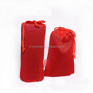 Low MOQ fashion design sports pp draw string mesh bag