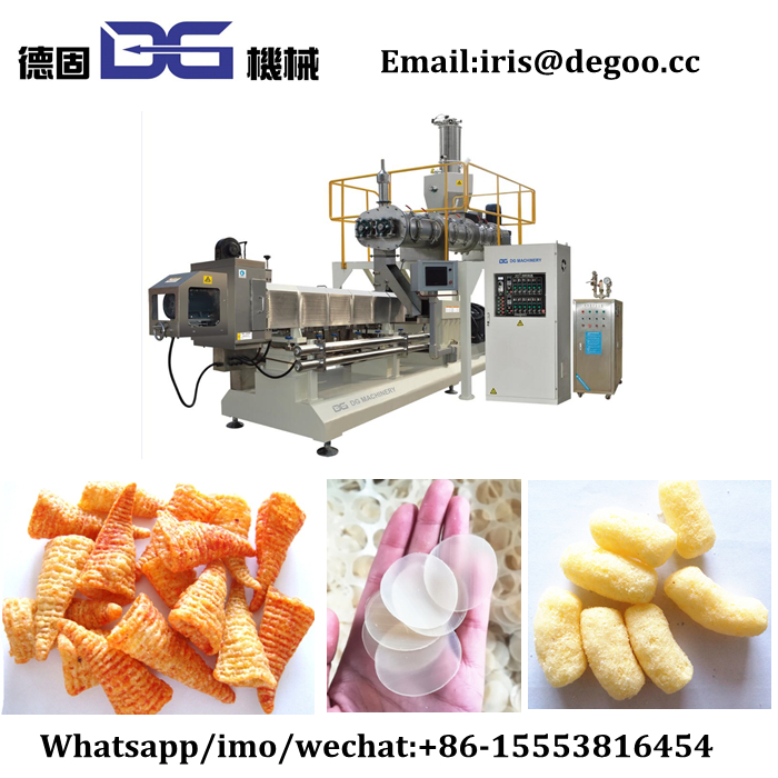 Automatic <strong>Corn</strong> Puffed food extruder exports line/Wheat fry food extruder production line process factory supplier China price