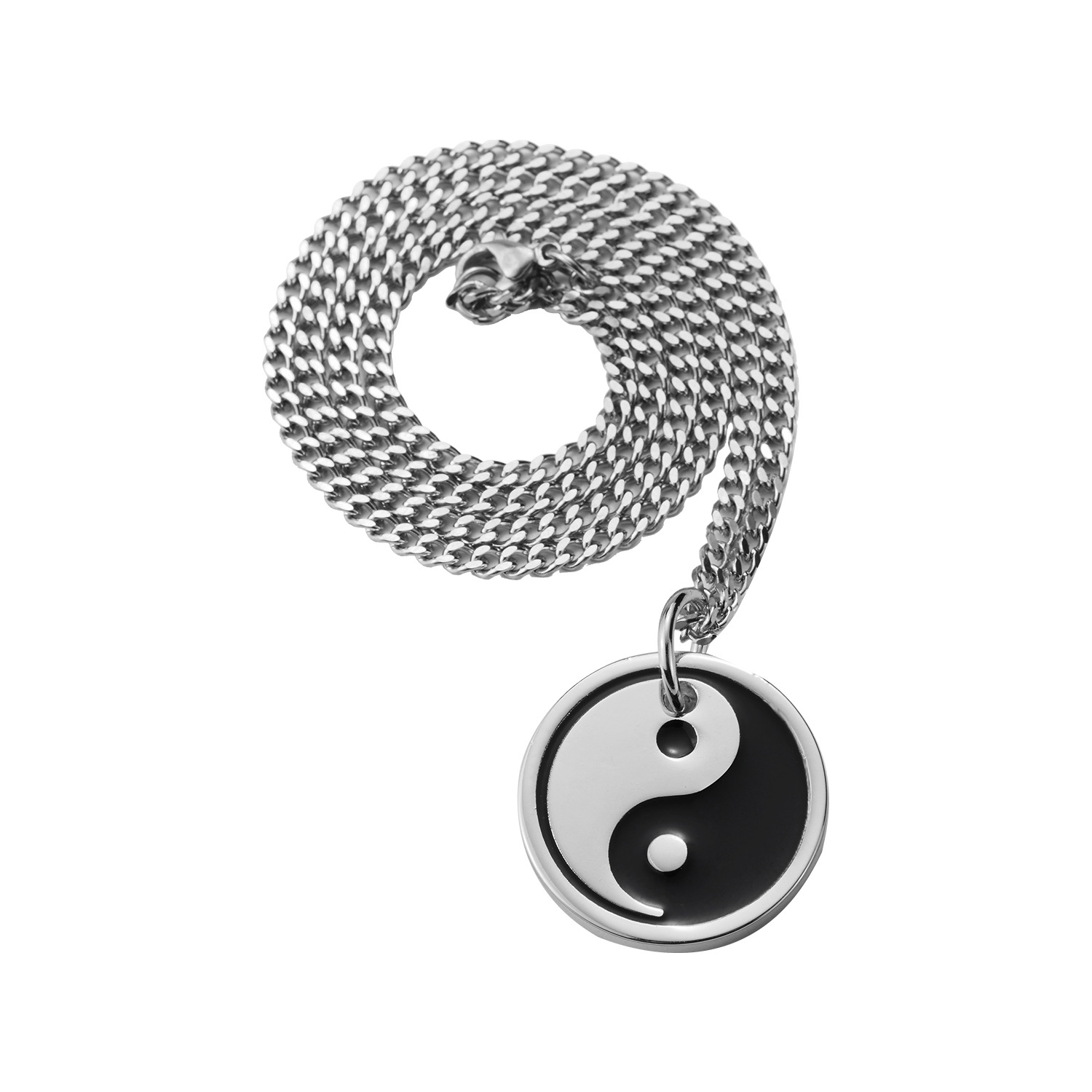 Fashion Stainless Steel Kirsite Tai Chi Pendent Long Necklace Designs