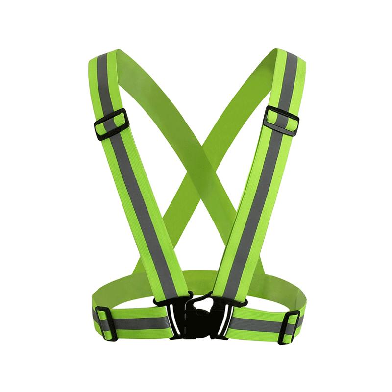 Новый безопасности дешево Chaleco Reflectante световозвращающими 3 м ткани материал лента ночник жилет и зеленого цвета