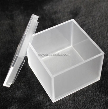 Custom Made Small Clear Matte Acrylic Box with Lid Acrylic Gift Box