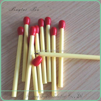 8CM length plastic matchstick cheap short ballpoint pen