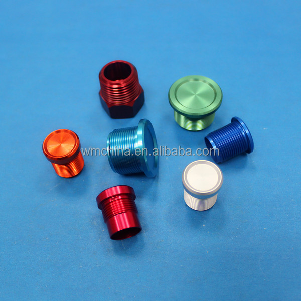 Small cnc milling aluminum anodized parts made in china