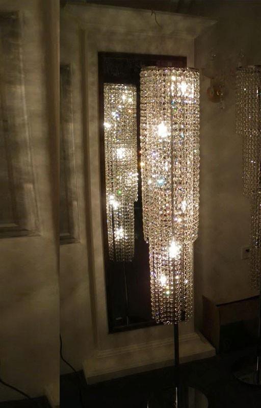 lampadaire cristal