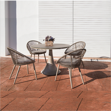 Outdoor Restaurant Furniture wicker 4 person hot Garden Rattan Dining Sets Patio Dining Table And chair