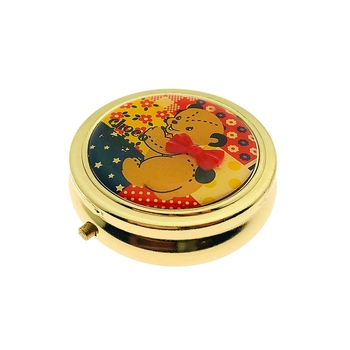 2018 Amazon Best Selling Cute Fancy Metal Round Pill Box For Christmas  Promotion Gift - Buy Metal Pill Box,Pocket Pill Box,Pill Storage Case  Product