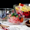 home decoration best selling transparent double wall salad bowl ice cream cup glass