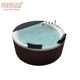 Indoor freestanding two person use tub small wooden bathtub