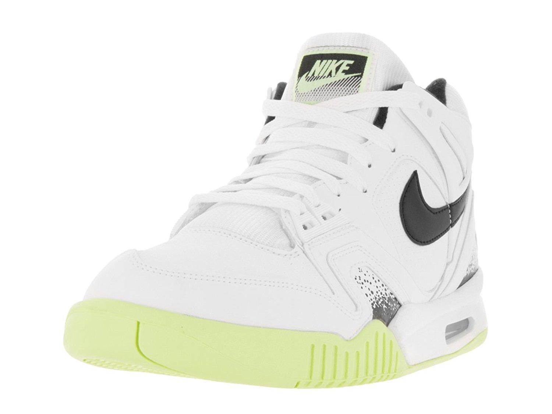 cb8d31564bbb Get Quotations · Nike Men s Air Tech Challenge II White Black Liquid Lime  Tennis Shoe 11.5 Men