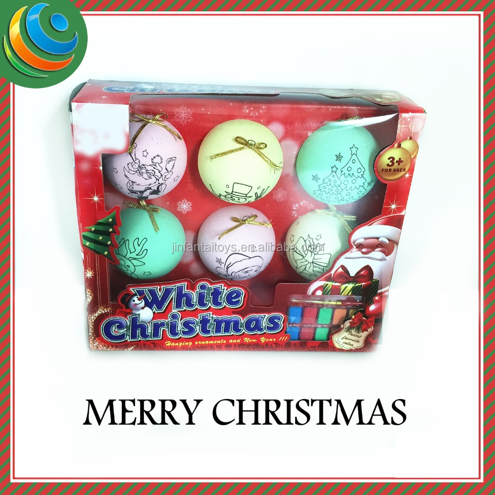 christmas decorating surprise egg toy diy toy watercolor paint 100 wholesale clear glass christmas ball ornaments