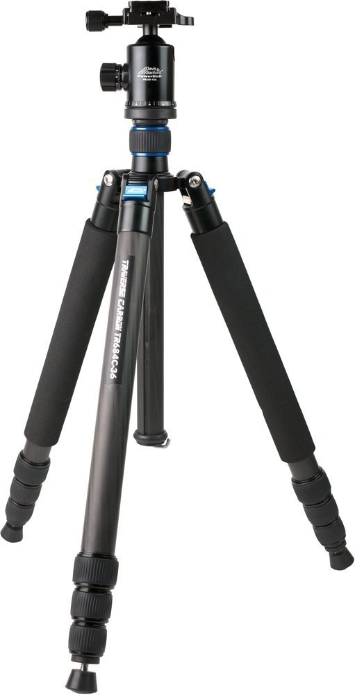 "Davis & Sanford TR684C-36 Heavy Duty 68"" Carbon Fiber Tripod and Dual Locking Ball Head (Black)"