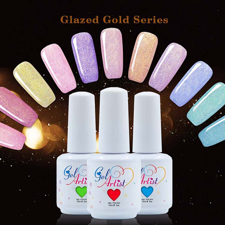 China Suppliers Factory 2017 Newest china Glazed Gold nail polish colors Gel Nail china