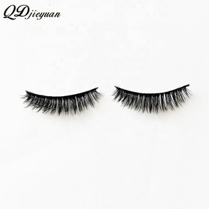 Private Label Natural Black Synthetic Hair 3d False Eyelashes