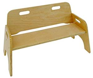 A+ ChildSupply Stackable Double Chair 10 inches