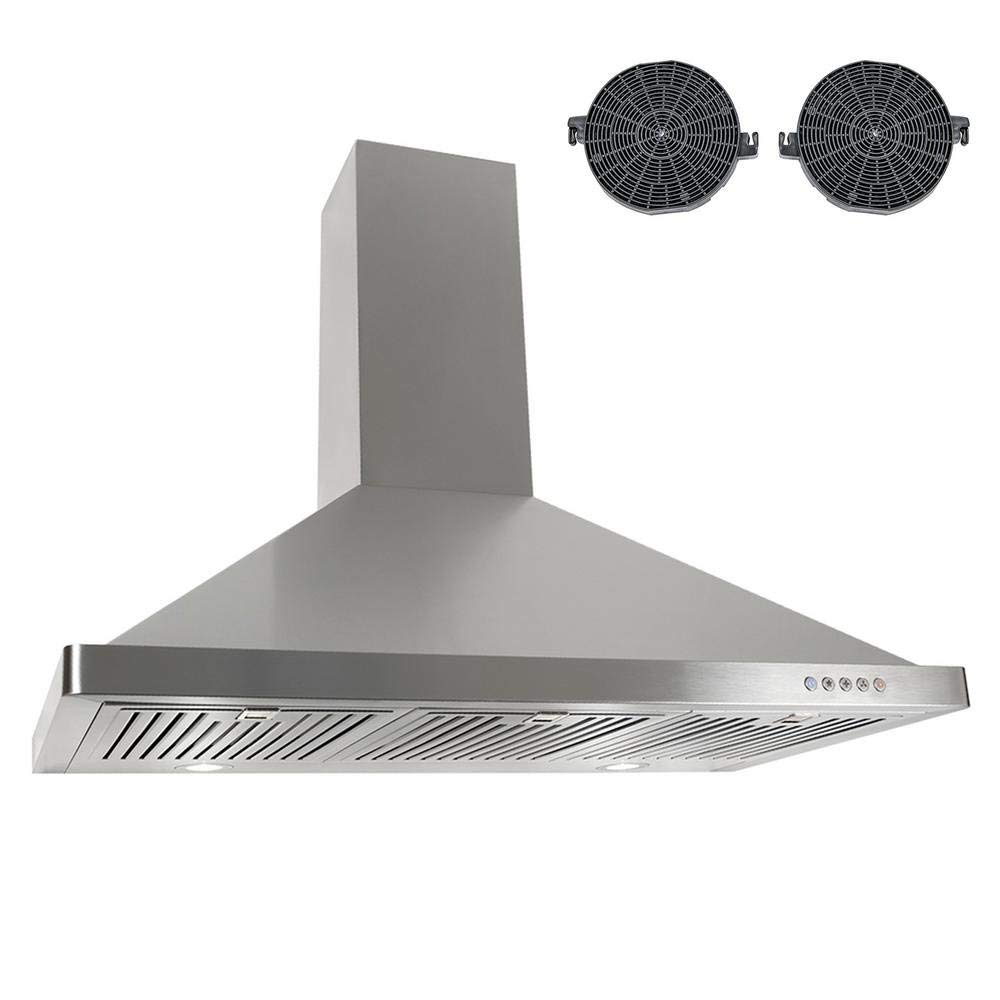"""760 CFM Ductless Wall Mount Range Hood in Silver Size: 41.7"""" H x 36"""" W x 18.9"""" D"""