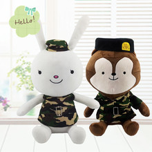 1pc 30cm Cute Descendants of the Sun The Same Paragraph Plush toy Secondary Group Wolf King & Rabbit Soft Stuffed doll kids Gift