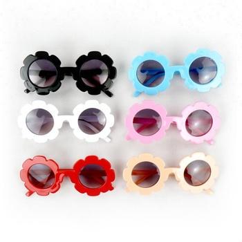 2018 Moda Quente de Verão Crianças Eyewear Multicolor Linda Flor de óculos  de Sol Do Bebê 57181bbff4
