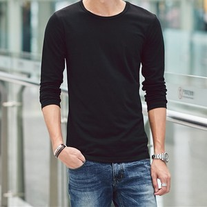 All new O-Neck slim men long sleeve t-shirt base shirt saints thermal undershirt men's autumn spring Top Tees