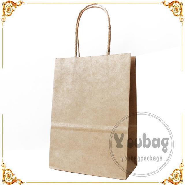 Custom Printed For Uk Market Food Brown Bags Plain Kraft Paper Bag