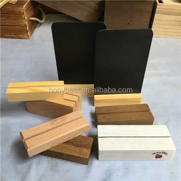 Two Sides Custom Silk Screen Logo Wood Crafts Table Tent Business - Wooden table tents