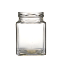 475 ml Clear vierkante food grade seal container <span class=keywords><strong>glazen</strong></span> pot voor jam