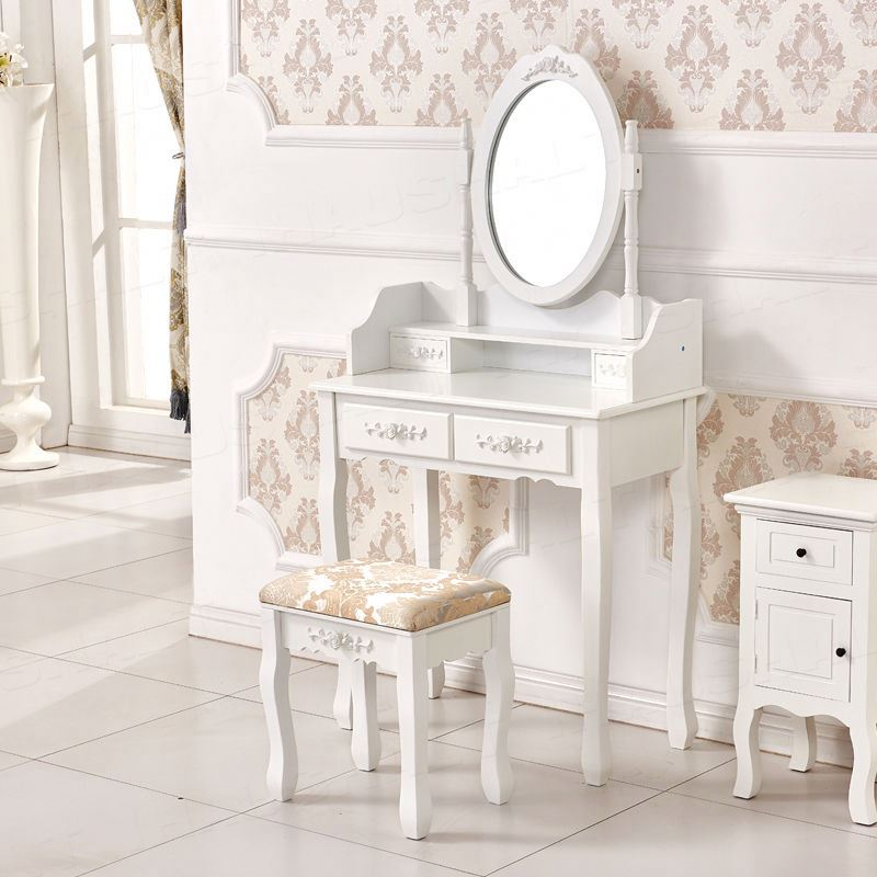 Classic Kids Girls Bedroom Living Room Furniture Dressing Table Mirror  Makeup Vanity Table - Buy Makeup Table With Mirror,Kids Dressing  Table,Vanity ...