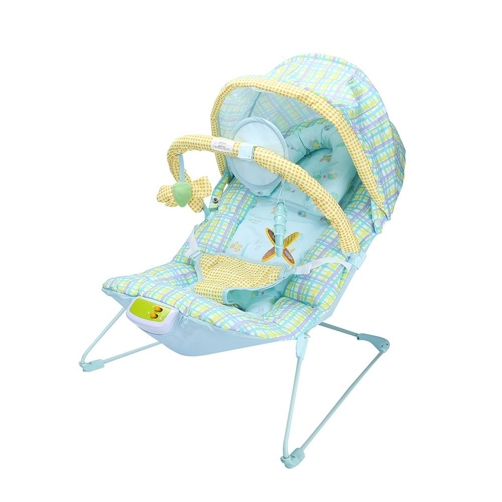 47a72aeaf6b Get Quotations · LLZJ Baby Rocker Reclining Chair Cradle Soothing Vibration  Musical Melodies Toys Cozy Bouncer Swing Chair Cradling