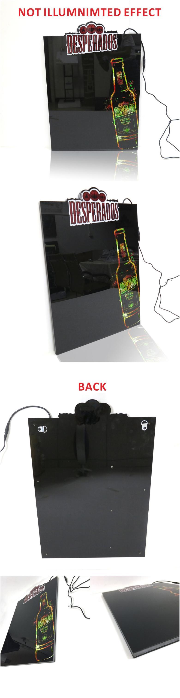 Wholesale Custom Shape Cheap Advertising Edge Lit Led Acrylic Slim Light Box