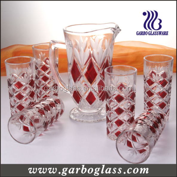 7pcs Glass Drinking Set/ Jug Set/ Juice Glass Set,Wholesale 7pcs ...