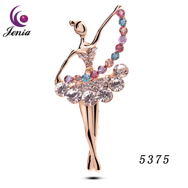 Jenia Cheap Wholesale Fashion Brooch Dance Girl Brooch Pins For Girl