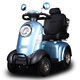 4 wheel hot sale electric scooter lang range citycoco scooter motorcycle
