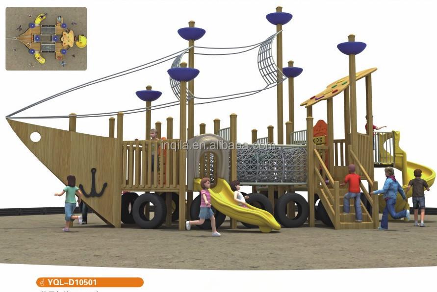 Large Children Outdoor Playground Equipment Wooden Pirate Ship Slide Buy Outdoor Playground Slidepirate Ship Slidechildren Playground Equipment
