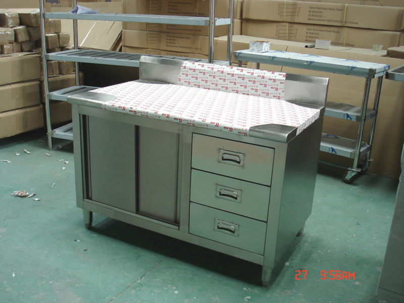 Restaurant Stainless Steel Kitchen Cabinet Cupboard Pantry