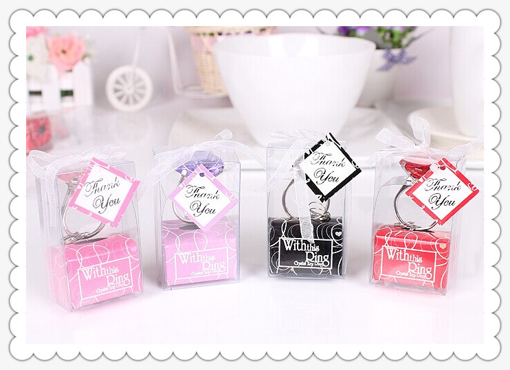Home Party Favors Gifts Keychain Key Baby Bride Shower Christening Wedding Favour