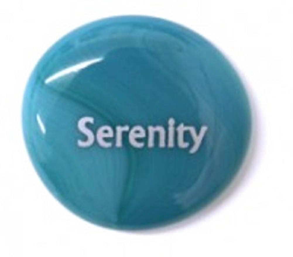 Serenity Colored Glass Imprinted Recovery Sobriety Stones