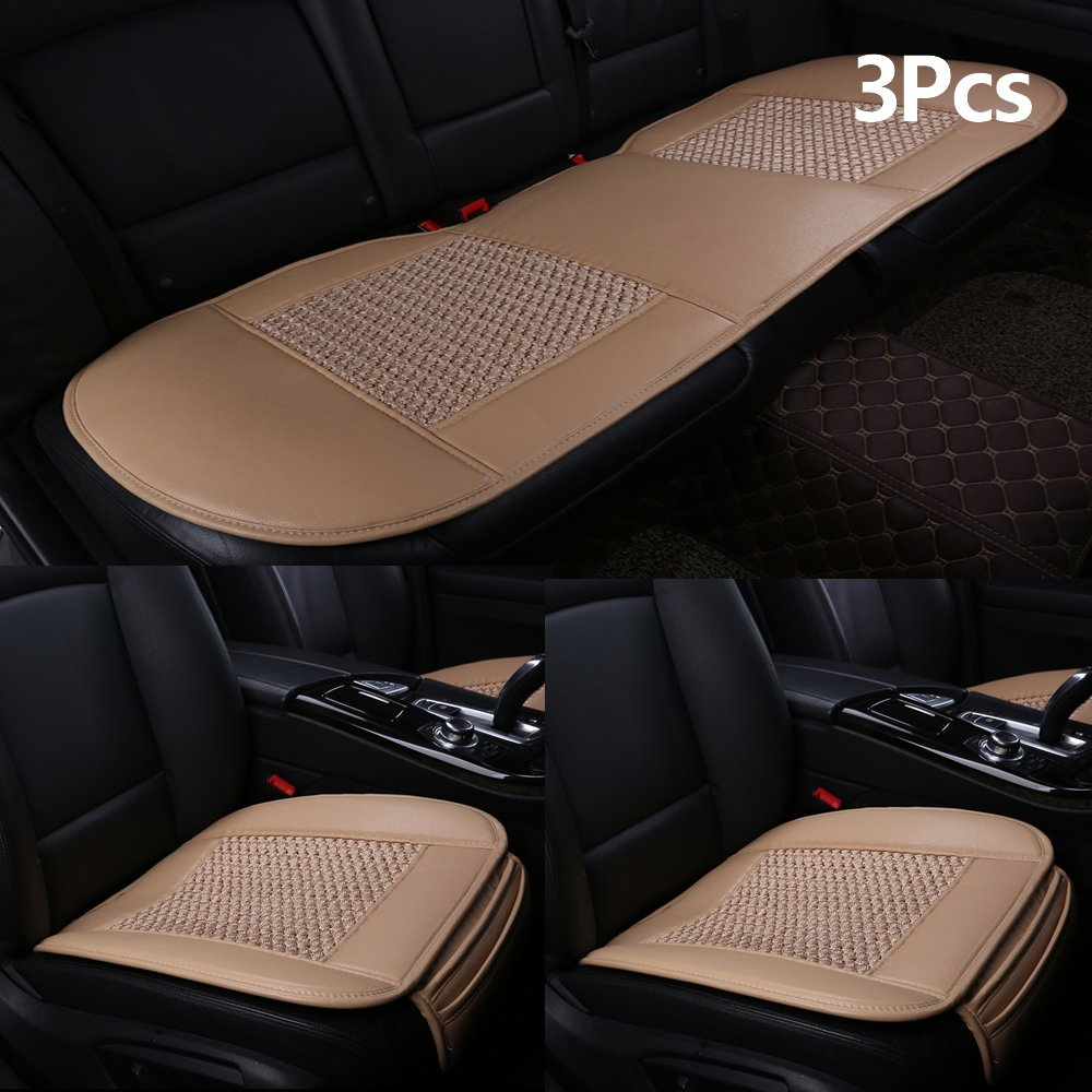 Get Quotations Suninbox Car Seat CoversIce Silk Cushion Covers Pad Matcarbonized Leather