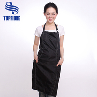 10213 Waterproof polyester backing PVC for Barber hairdresser salon apron