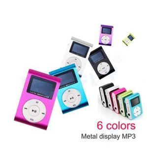LCD Screen Metal Clip Digital MP3 Player for 2/4/8/16GB TF Card