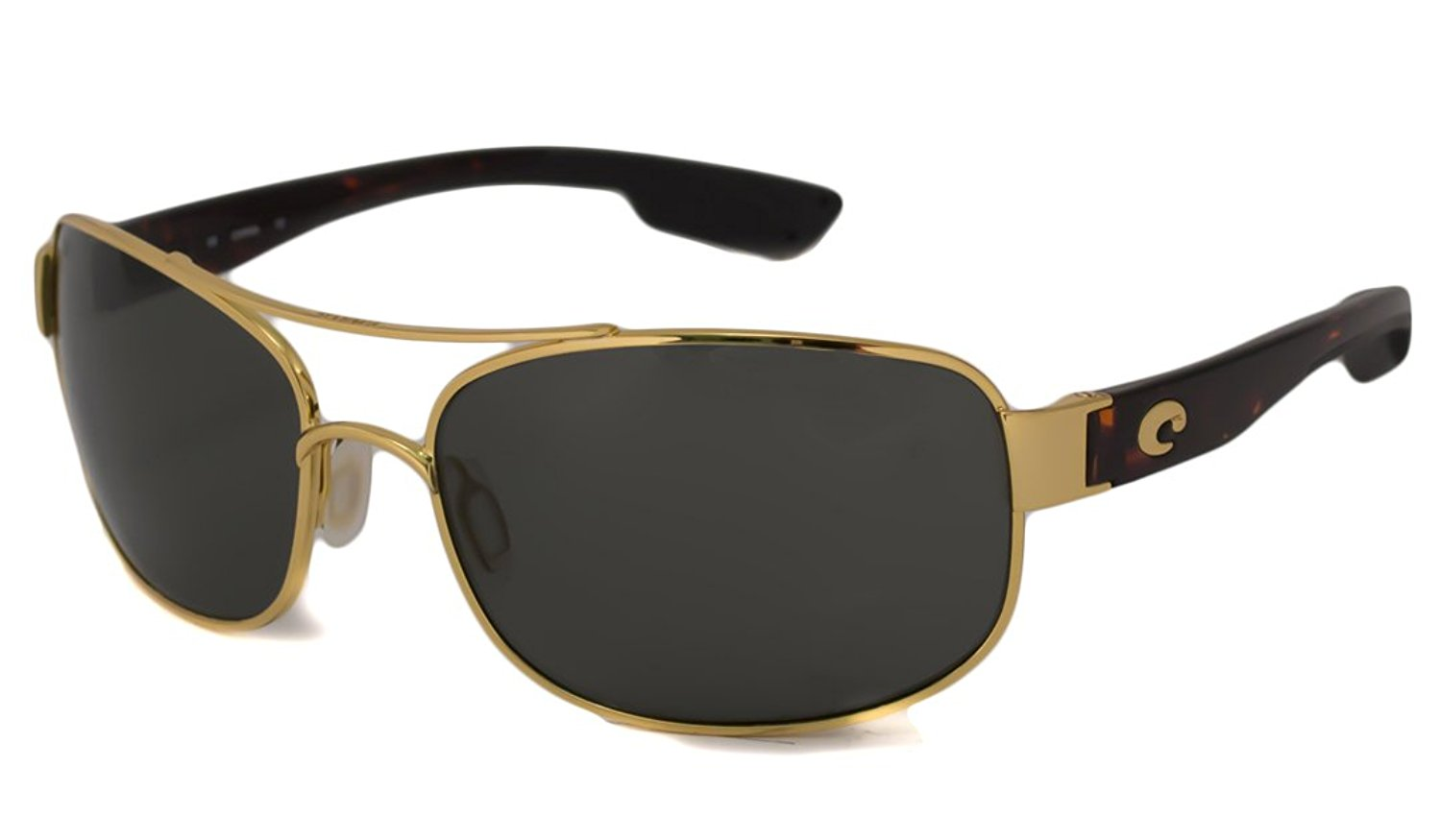 6c87568f58a50 Get Quotations · Costa Del Mar Sunglasses - Tower- Plastic   Frame  Gold  Lens  Polarized Gray