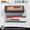 VB High quality 5000mah 7.4V 45C 50C hard case RC lipo battery pack with Deans connector